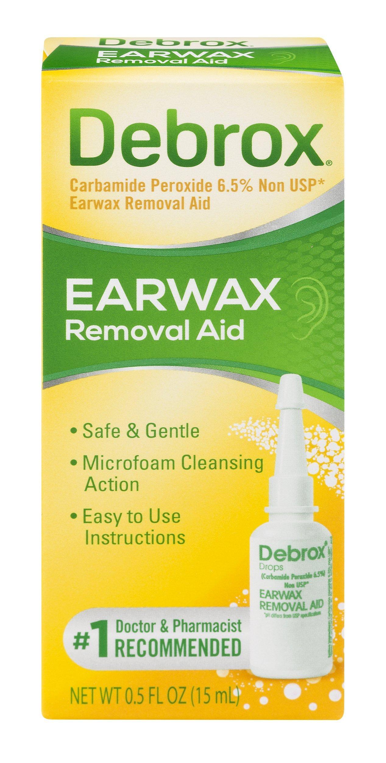 Debrox Drops Earwax Removal Aid drops,1/2 FL OZ