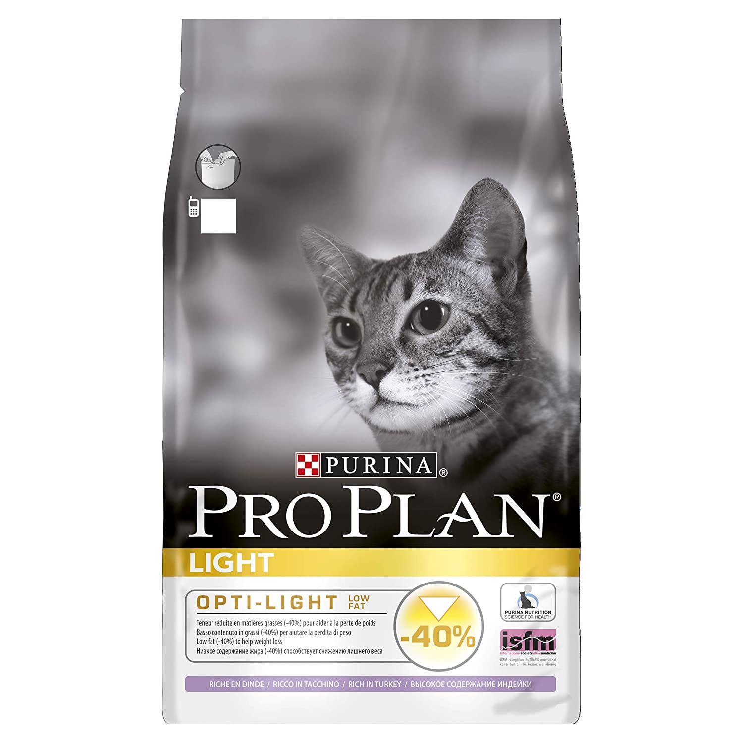 PRO PLAN Light - Riche en Dinde - 3 KG - Croquettes pour chat adulte 894