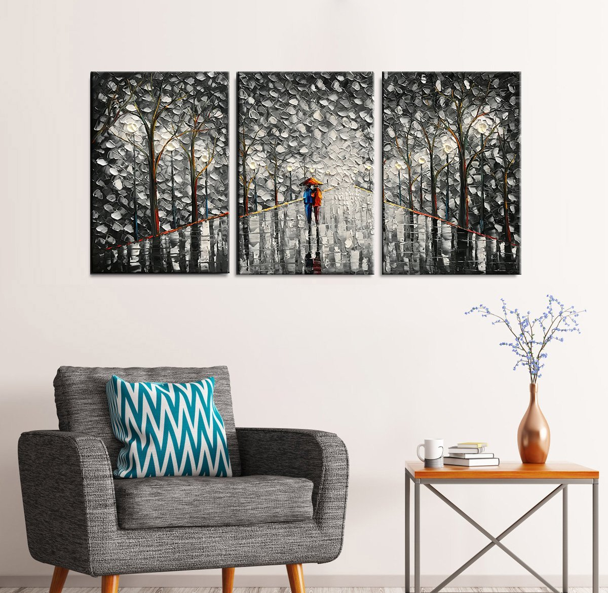 3d optical illusion art Hand Painted Abstract Wall Art for Living Room