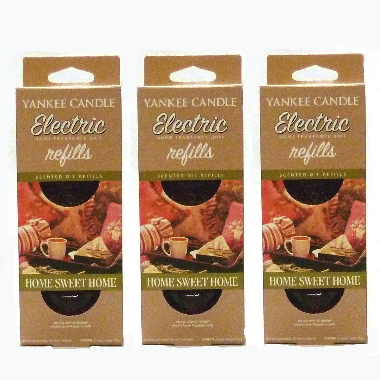 Yankee Candle - Ricariche per deodorante elettrico per ambienti, fragranza Home Sweet Home, 3 confezioni da 2 pezzi ciascuna (6 ricariche in totale)
