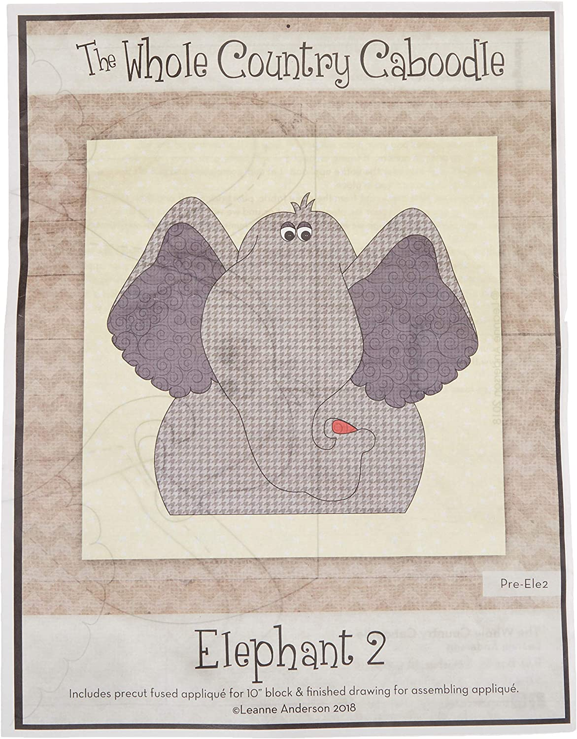 Whole Country Caboodle Alligator Precut Fused Applique Pack Pattern