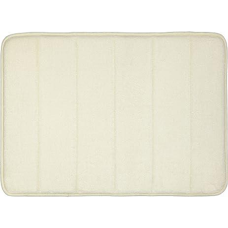 Amazoncom Mohawk Home Memory Foam Cream Bath Rug Inch By - Mohawk memory foam bath mat for bathroom decorating ideas