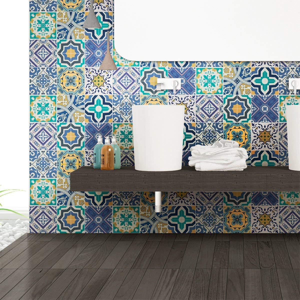 /10/x 10/cm/ Ambiance-Live Quadretti di Cemento Adesivo Parete/ /Azulejos/ /9/Pezzi
