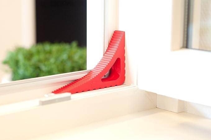 Tope, retenedor y protector de puertas y ventanas (2 unidades) - Rojo: Amazon.es: Hogar
