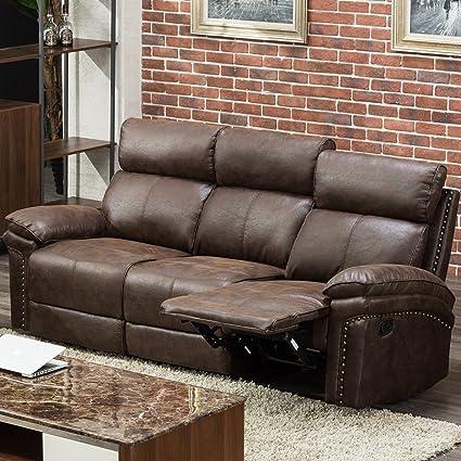 Amazon.com: Harper & Bright Designs Sectional Recliner Sofa Set ...