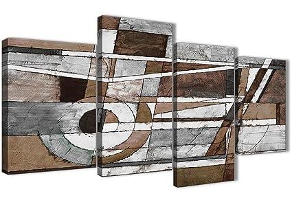 Wallfillers Grande Marron Beige Blanc Peinture Abstraite ...