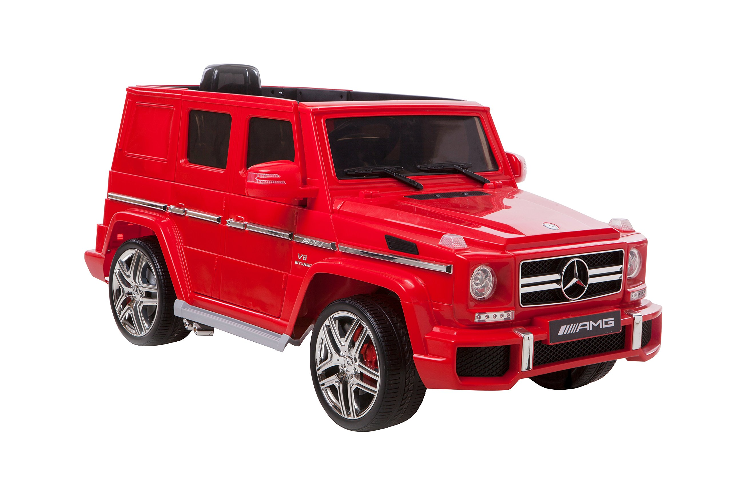 Kid Motorz Mercedes Benz G63 AMG One Seater In Red (12V) Ride On by Kid Motorz