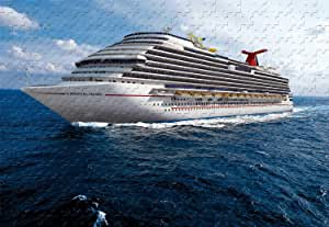 Cruise Ship 500 Piece Jigsaw Puzzle 20.6 X 15.1'' Wooden Puzzle