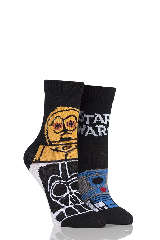 Kids 2 Pair SockShop Star Wars R2-D2 and C-3PO Socks