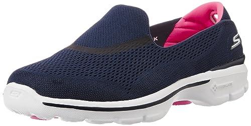 995c3c335154 Skechers Women s Go Walk 3 - Strike Navy and Pink Nordic Walking Shoes - 7  UK
