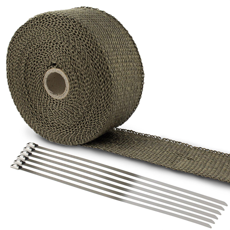 LIHAO 10M Bande de Protection Thermique avec Serre-Flex en M/étal