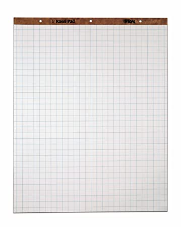 Amazon.Com : Tops Standard Easel Pads, 3-Hole Punched, 27 X 34