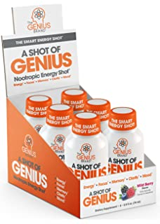 6d051cc60cb1 Shot of Genius - Nootropic Energy Shots | The Smart Energy Drink for Men &  Women