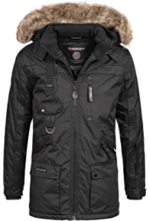 6c997d92af28 Geographical Norway Herren Winterparka Jacke Chirac abnehmbare Fellkapuze
