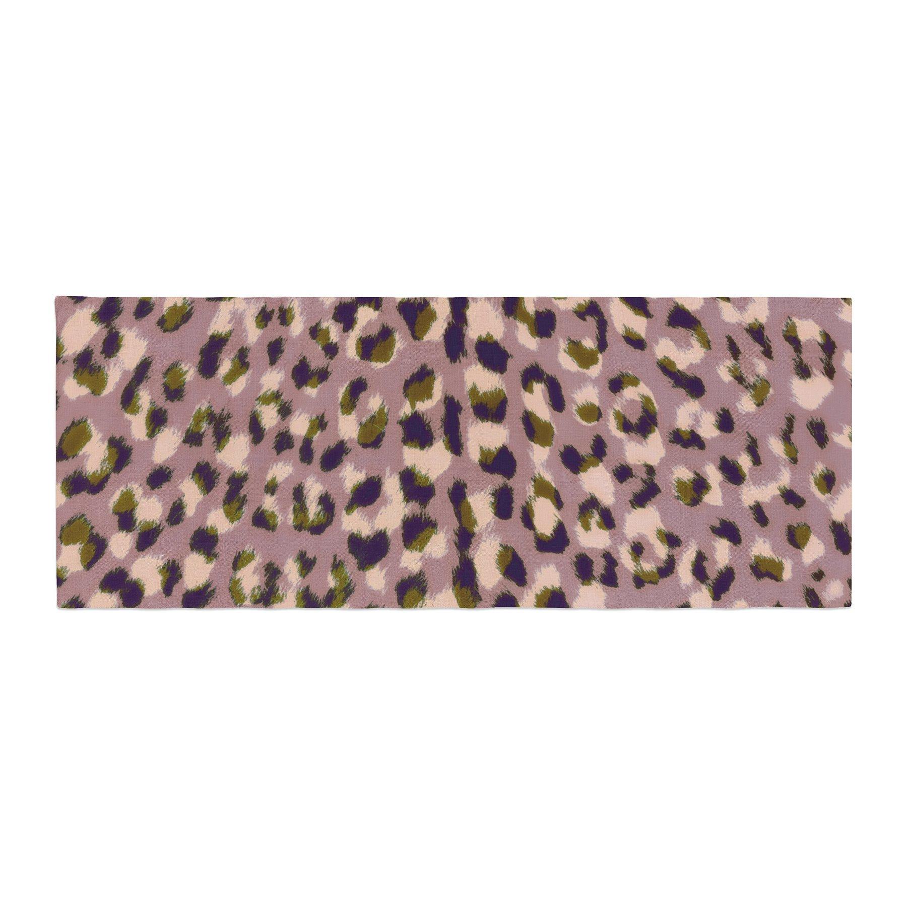 Kess InHouse Vasare Nar Leo Cheetah Animal Pattern Bed Runner, 34'' x 86''