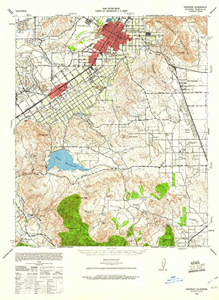 Fairmount Park Riverside California Map.Amazon Com Yellowmaps Riverside Ca Topo Map 1 62500 Scale 15 X 15