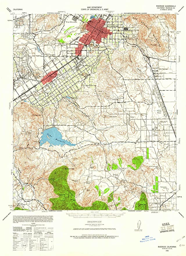 Amazon.com: YellowMaps Riverside CA topo map, 1:62500 Scale ...
