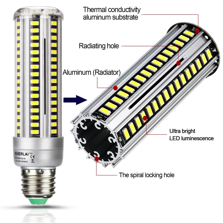 2 Pack 18w Led Corn Light Bulbs E27 Lamp 150w Equivalent Ultra Bright For Ac230v Cool White 6000k 1980lm Street Post Lighting Garage Warehouse High Bay Barn