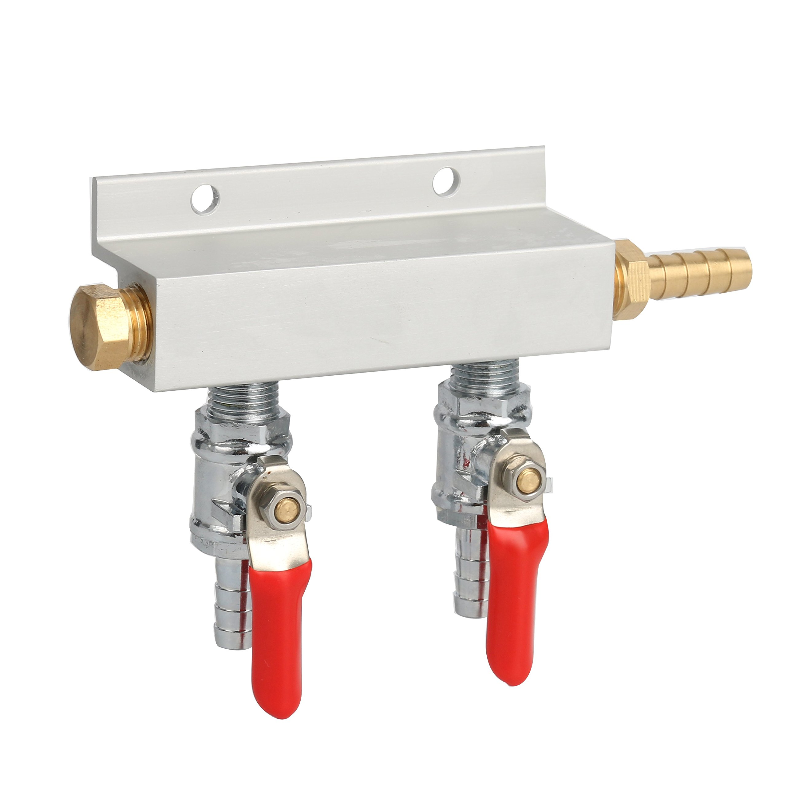 YaeBrew Gas Manifold, Beer Gas Distributor, Air Distributor CO2 Manifold - Splitter 5/16'' Barb Fittings (2 Way)