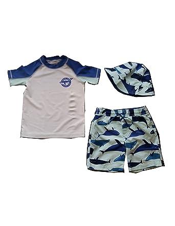e9da1dc28c Amazon.com: Carter's Baby Boys' 3 Piece Swim Set - Whale - Size 4/5 ...
