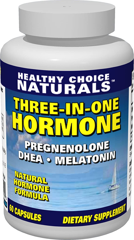3-in-1 Hormone Supplement-Dhea, Melatonin & Pregnenolone for Optimum Health  &