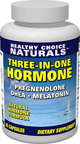 3-in-1 Hormone Supplement-Dhea, Melatonin & Pregnenolone for Optimum Health