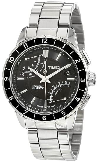 b4dfdf354 Timex Men's T2N498 Intelligent Quartz SL Series Fly-Back Chronograph  Bracelet Watch: Timex: Amazon.ca: Watches