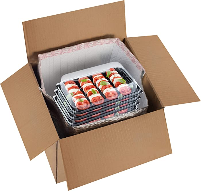Thermal Box Liners 6x6x6 Metalized Box Liners 6 x 6 x 6 by Amiff. Pack of 10 Insulated Box Liners. Food Grade. Gusseted Bottom. Adhesive Strip. Mailing, Shipping, Packing, Packaging, Moving.