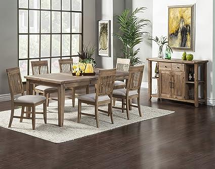 Swell Amazon Com Alpine Furniture Aspen 8 Piece Dining Set Pdpeps Interior Chair Design Pdpepsorg