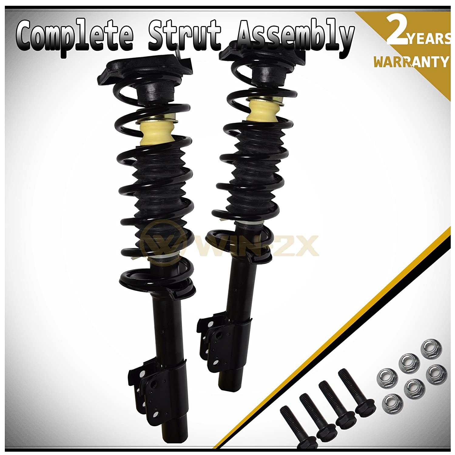 Rear Pair, Spring, and Strut Mount Assembly Kit Unity Automotive 2-15130-001 Quick Complete