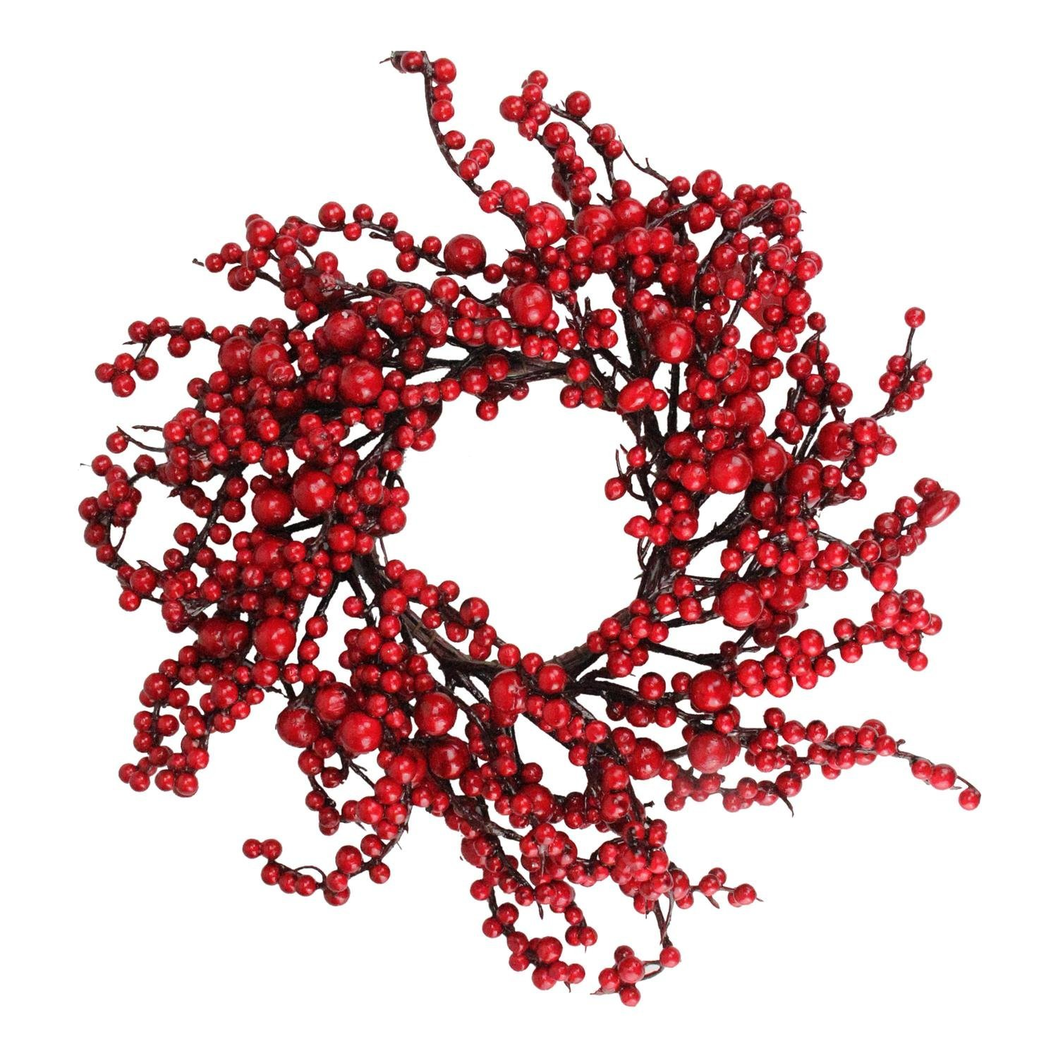 Northlight 16'' Festive Artificial Red Berries Christmas Wreath - Unlit