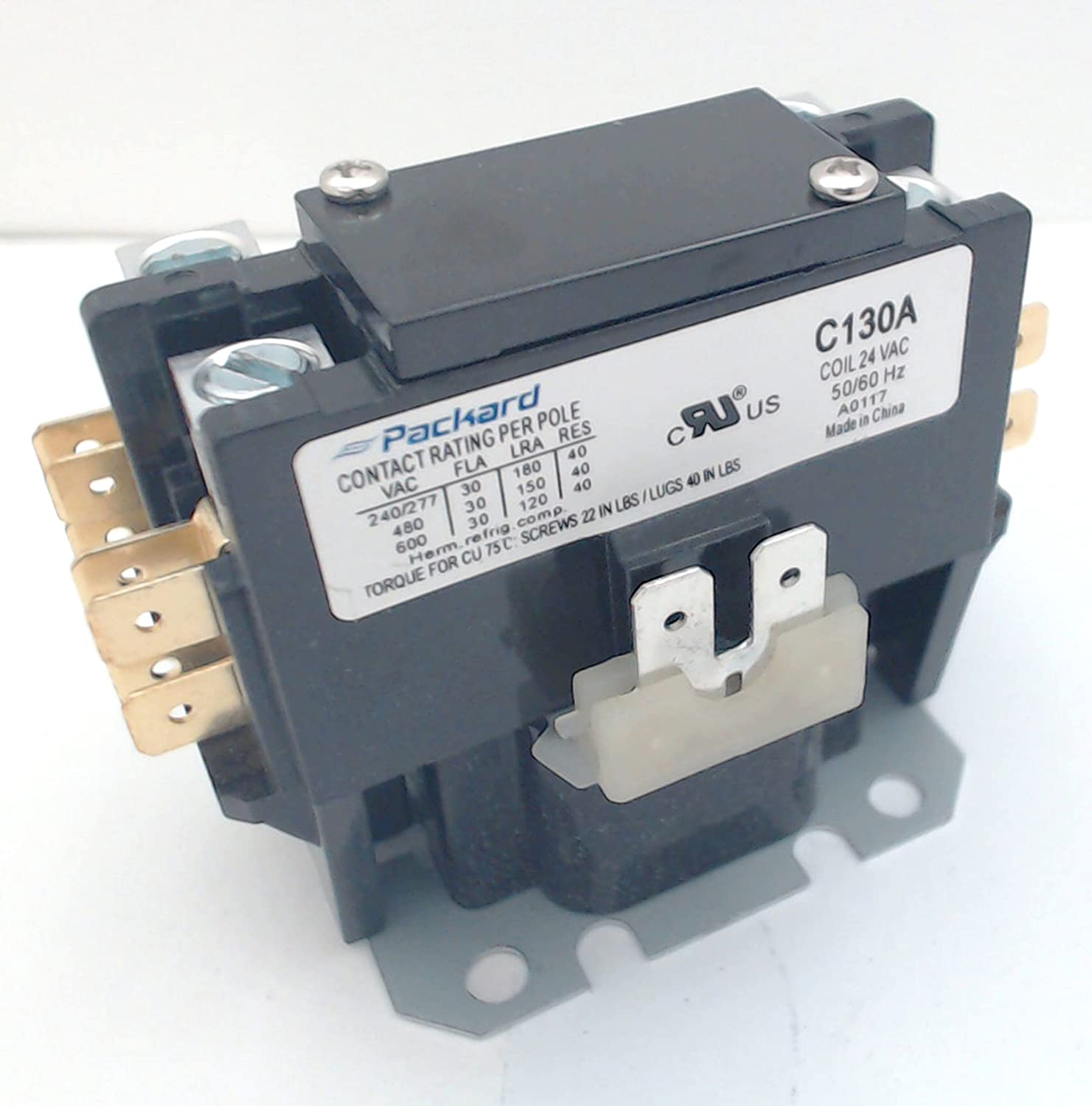 Amazon.com: Packard Contactor C130A 1 Pole 30 Amps 24 Coil Voltage 4.5 Out  of 5 Stars 44: Industrial & ScientificAmazon.com