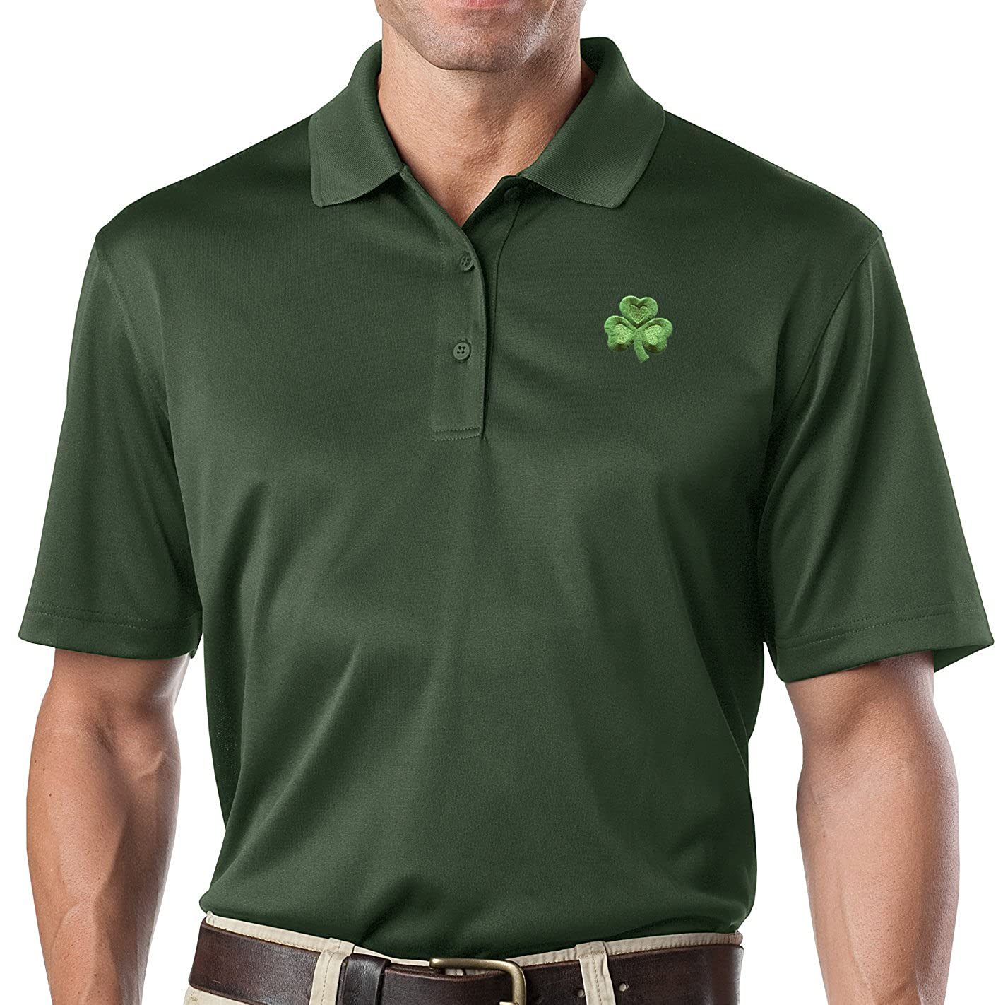 Buy Cool Shirts Mens Irish Shamrock Snag-Proof Polo Shirt