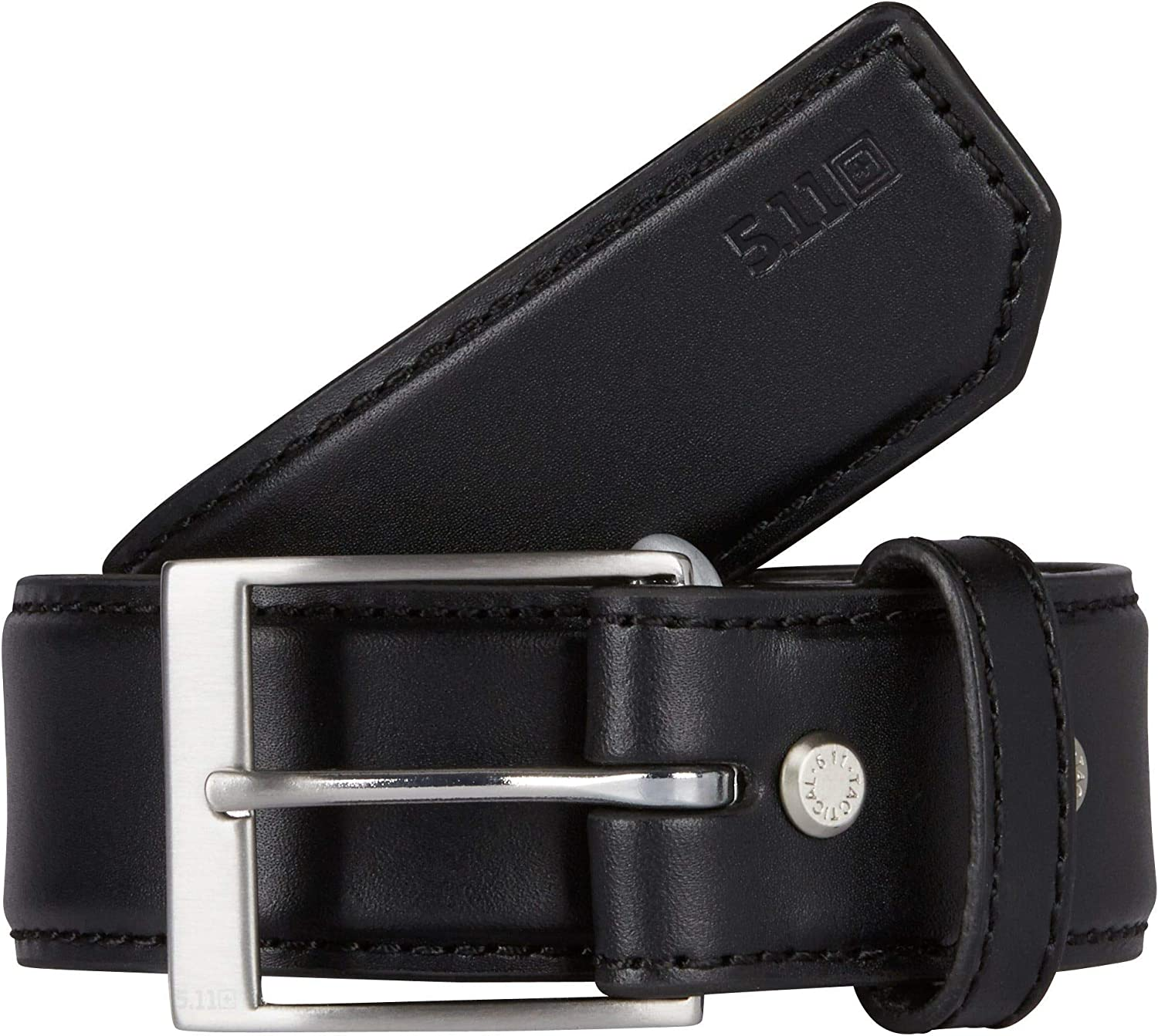 "5.11 Tactical Men's 1.5"" Casual Leather Belt - Plainclothes Duty or Covert Operations, Style 59501"