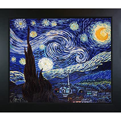 Image Unavailable. Image not available for. Color  Hand-Painted  Reproduction of Van Gogh Starry Night 6869839a7