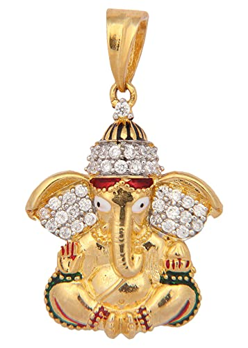 Buy vama collections one gram gold plated ganesh ganesha pendant buy vama collections one gram gold plated ganesh ganesha pendant with cubic zirconia diamond for men women children online at low prices in india amazon aloadofball Choice Image