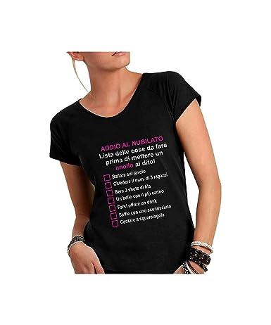Social Crazy T Shirt Donna Cotone Fiammato Scollo Ampio A Taglio