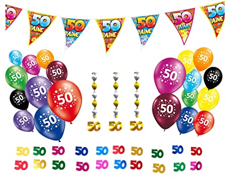 Image Unavailable Not Available For Colour Pack Of 50th Birthday Decorations