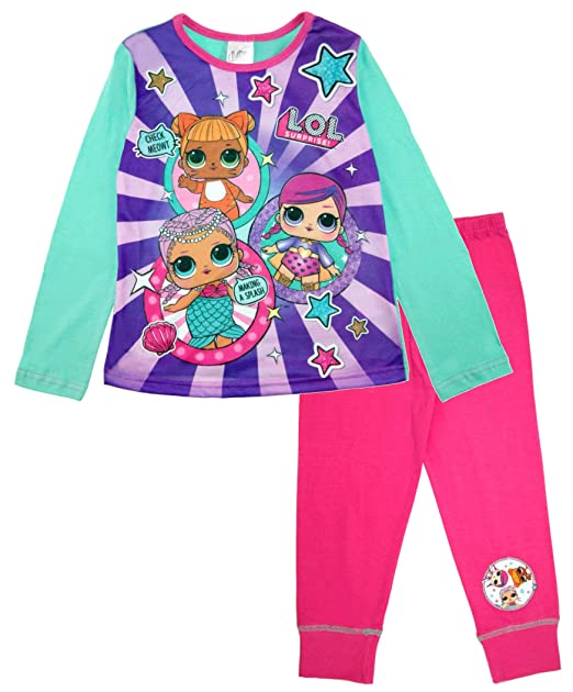 L.O.L Surprise Pajamas for Kids in Soft Cotton Confetti Pop Lil Sisters: Amazon.es: Ropa y accesorios