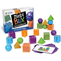 Learning Resources LER9280 Mental Blox Critical Thinking Game, Homeschool, 20 Blocks, 20 Activity Cards, Ages 5+