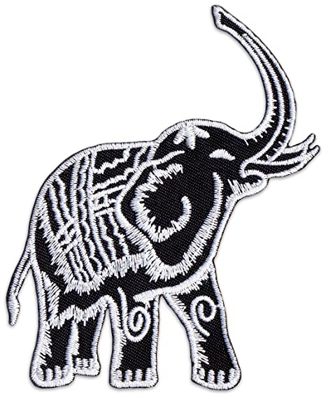 Thai elefante parche para planchar Patch boho Natural ...