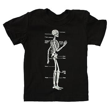 Amazon Happy Family Skeleton Diagram Bones Kids Black Tshirt