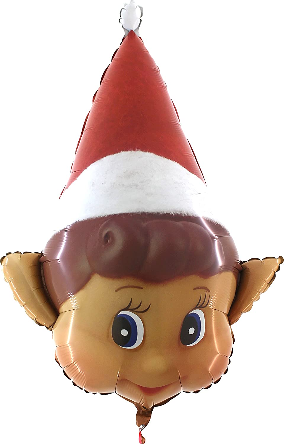 Toyland 34 Inch Naughty Elf Christmas Shaped Foil Balloon - Inflate with Air or Helium - Elves Behavin' Badly Toyland®