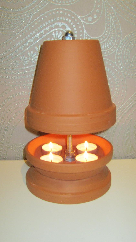 Té luz Vela de horno horno té luz Calefacción Altura 27 cm diámetro 16 cm Color Terracota