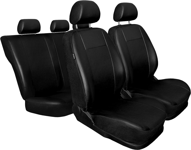 Schwarz Kunsleder Sitzbezüge Komplettset Sitzbezug Für Auto Sitzschoner Set Schonbezüge Autositz Autositzbezüge Sitzauflagen Sitzschutz Comfort Auto
