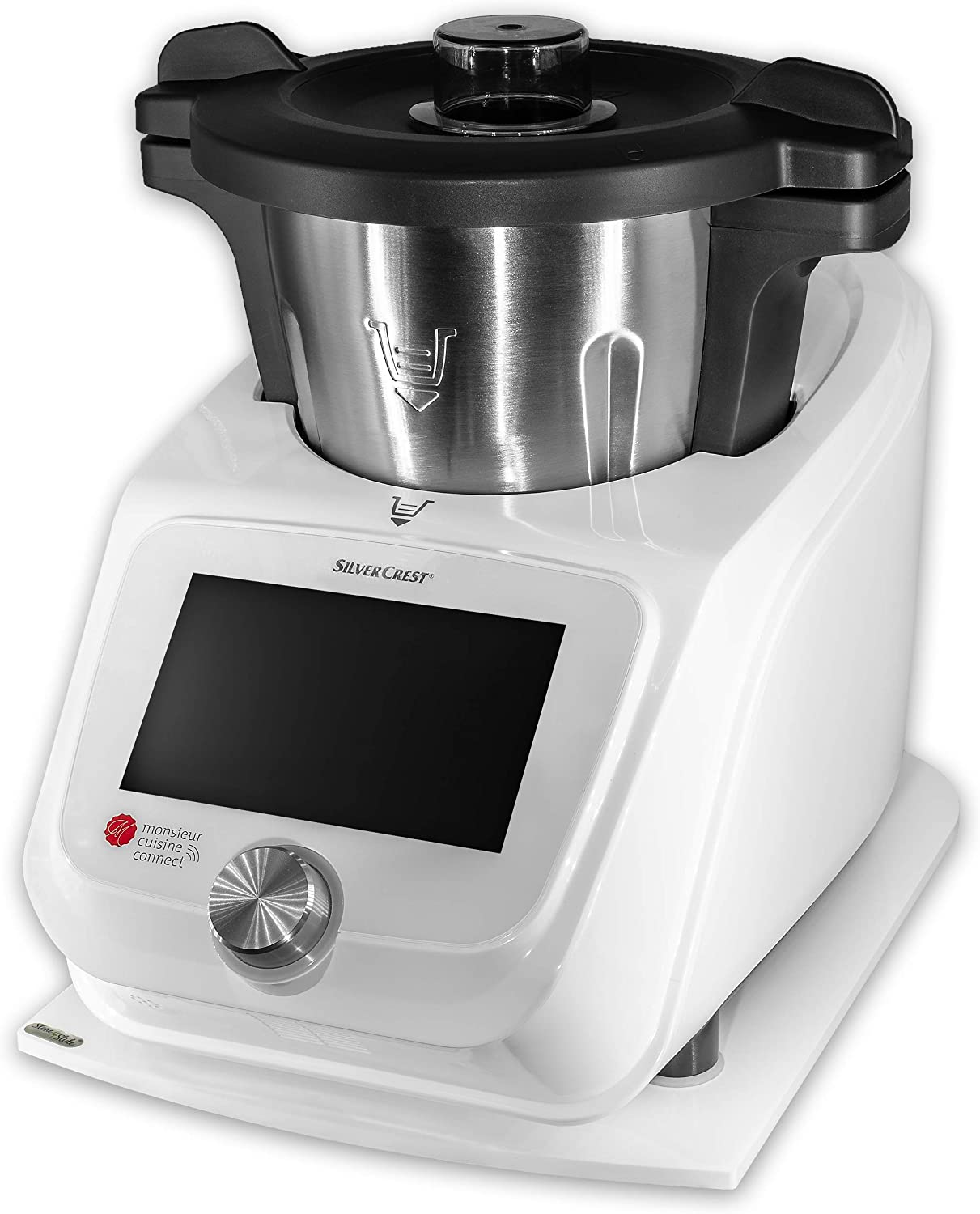Compra coolina - Base deslizante para Monsieur Cuisine Connect (MCC) de acrílico, color blanco en Amazon.es