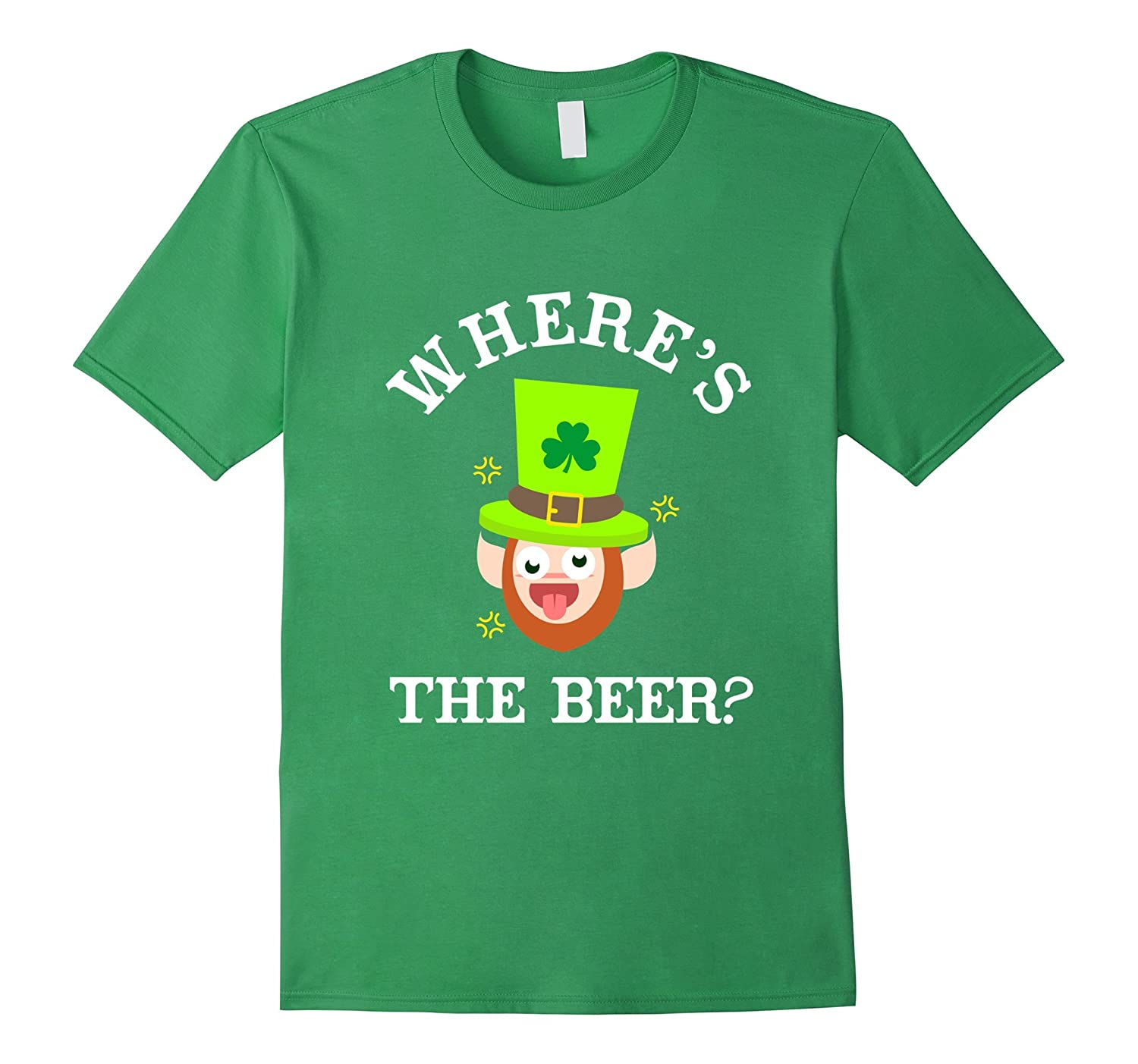 FUNNY WHERES THE BEER T-SHIRT - St Patricks Day Gift-CD