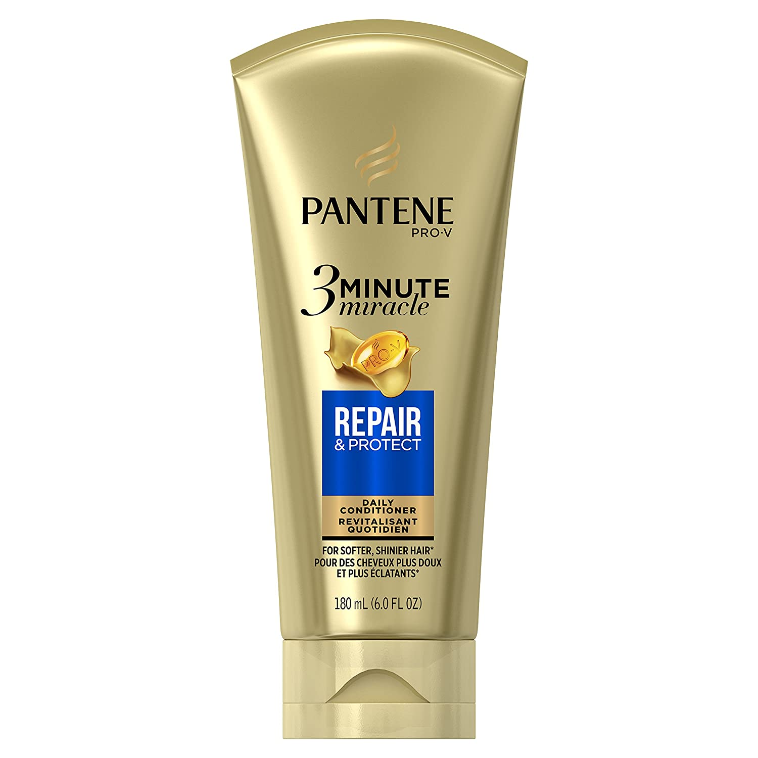Pantene Repair and Protect 3 Minute Miracle Deep Conditioner, 6 Fluid Ounce