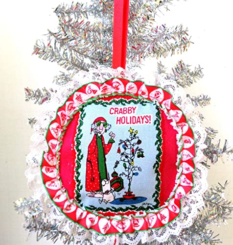 Funny Naughty Christmas Tree Ornament, Red Felt Holiday Decor, Witty  Cartoon Character Home Accent - Amazon.com: Funny Naughty Christmas Tree Ornament, Red Felt Holiday