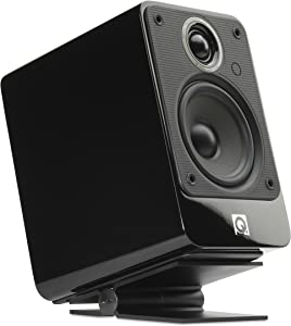 SoundXtra Universal Desktop Speaker Stand, Size Small - Pair (Black)